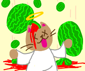 Dead Cat And Raining Watermelons