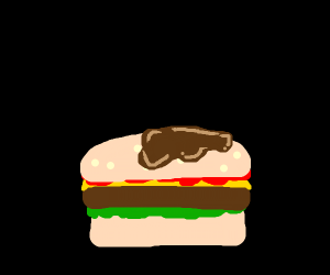 Burger with maple syrup