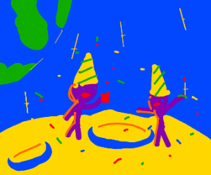 birthday party on the moon