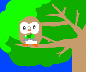 rowlet in a tree
