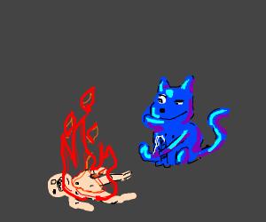 blue cat fap to fire