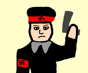 Natzi with a gun?