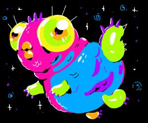 Cute, chubby Nicole-Ham-style creature