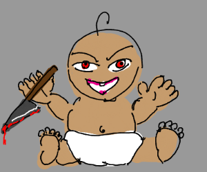 insane evil killer baby