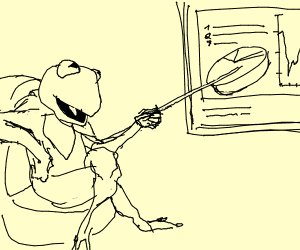 Toad giving a Presentation
