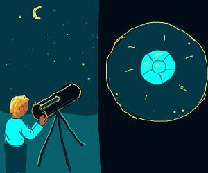 steve sees a diamand planet through telescope