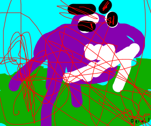 Hippo on land is overheated