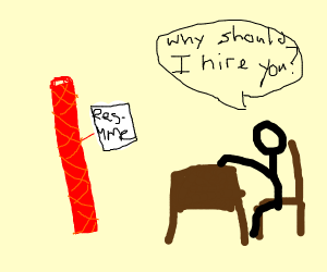 twizzler going in for a job interview