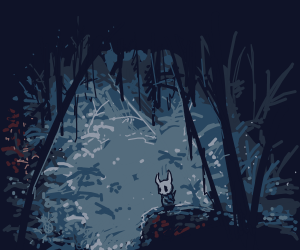 Hollow Knight in the woods