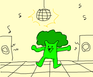 Broccoli at the dance party.