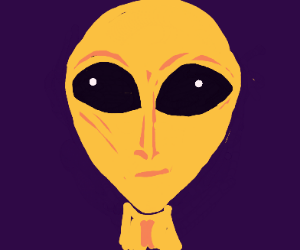 Alien thinks of Man