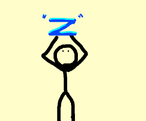 "man holds gigantic ""Z"""