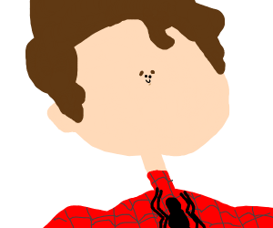 spider man's tiny face