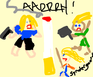 3 versions of Thor attack giant cigarette