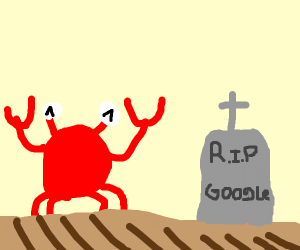 Crab likes that google in gone