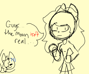furry claims the moon isnt real