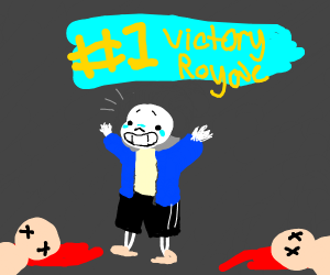 Sans gets the victory royale