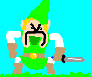 angry weird looking link