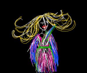 barbie wearing a kimono