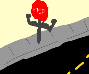 Swole stop sign