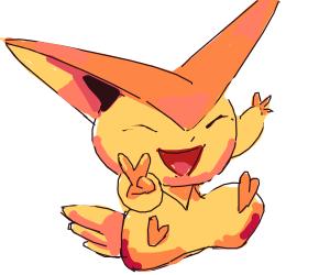 Happy Victini (Pokemon)