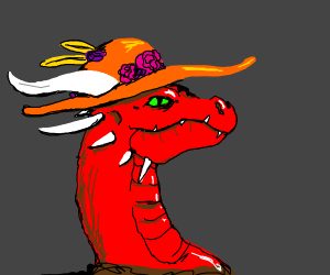 dragon with a fancy hat!