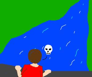 Man contemplates suicide.
