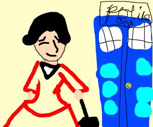 Marry Poppins walks into the TARDIS