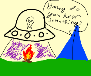 THE ALIENS ATTACK while camping trip