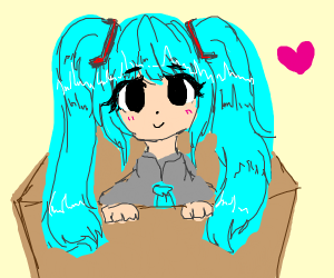 Hatsune Miku in a box