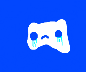 discord logo crying