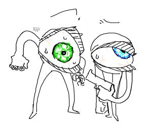 Blue eye vs green eye