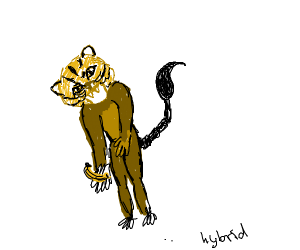 A tiger-scorpion-monkey hybrid