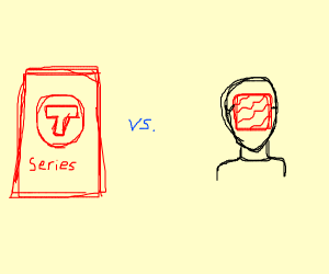 t series VS pewdiepie