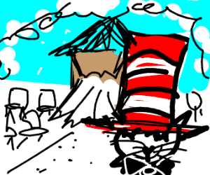 Cat in the hat marrying a thicc house
