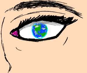 Planet in the eye