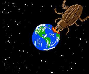 giant cockroach eats earth