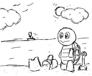 squirtle on a vacation
