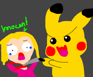 pikachu beheads innocent girl