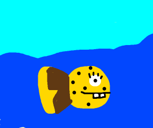 Spongebob, but as a fish