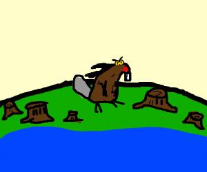 beaver ate the last tree on earth