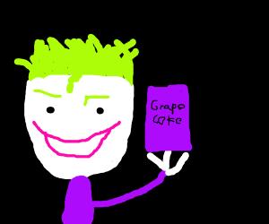Joker tryna sell you Grape Coke