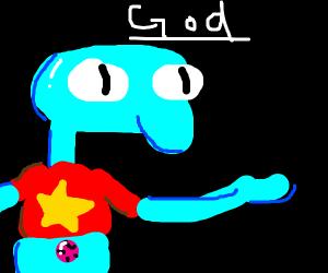 A crossover episode of popular kids' cartoons
