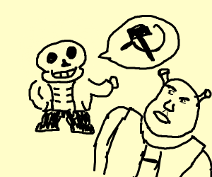 sans having dbate about communism with shrek