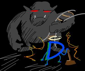 Drawception D does battle with Derail Troll!