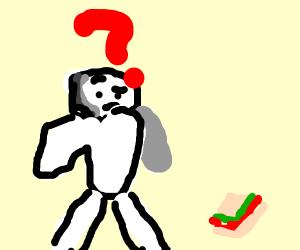 Man Doesn't Understand Sandwich