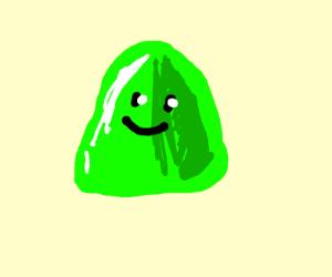 Green blob jello dude