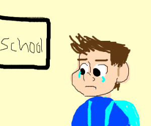 school makes you cry