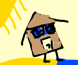 house goes to the beach