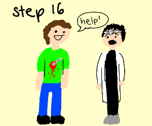 step 16: ask doctor  for help